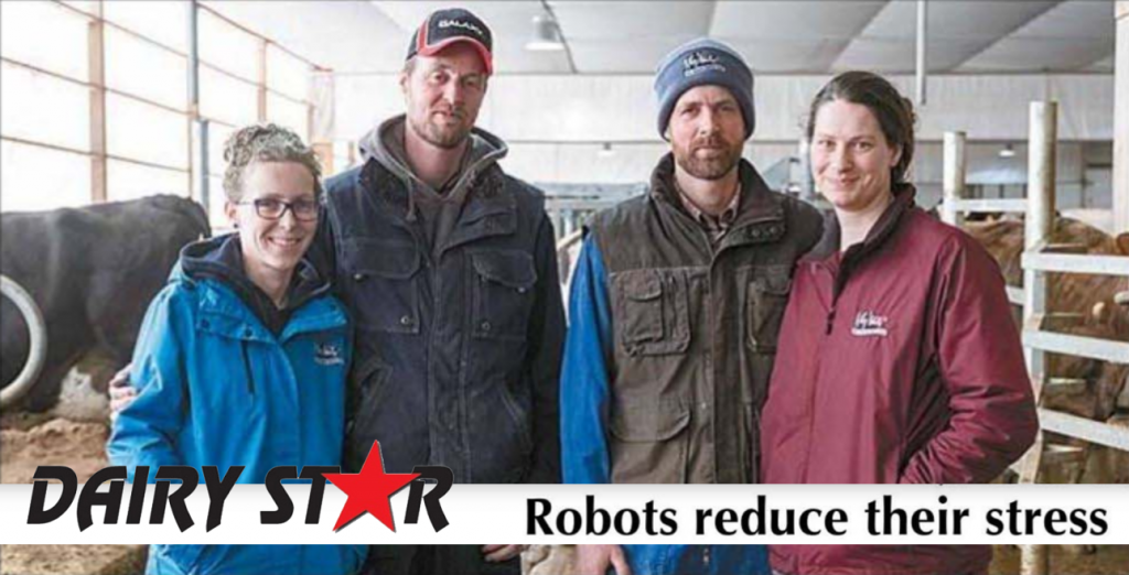 ten Hoeve Dairy Farm uses AMS Galaxy USA farm automation Robots reduce Their Stress
